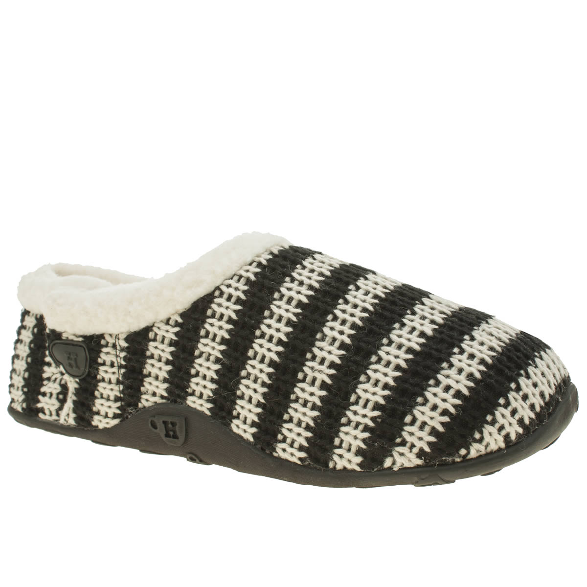 Homeys Homeys Black & White Barney Slippers