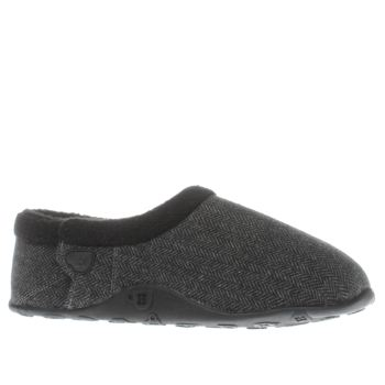Homeys Grey & Black Billy Slippers