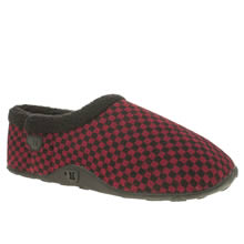 Homeys Black & Red Ollie Mens Slippers