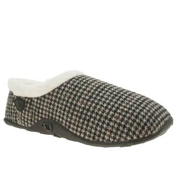 Homeys Brown & Navy Stan Mens Slippers