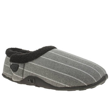 Homeys Grey & Black Vinne Slippers