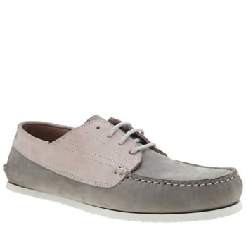 Red Or Dead Light Grey Mr Berry 4 Eye Moc Mens Shoes
