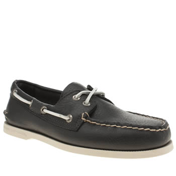 Mens Sperry Navy & White A/o 2-eye Shoes