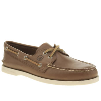 Sperry Brown A/o 2-eye Boat Mens Shoes