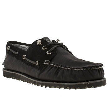 Mens Sperry Black A/o Shoes