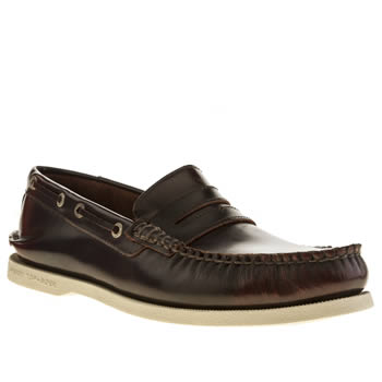 Sperry Burgundy A/o Penny Brush Off Shoes