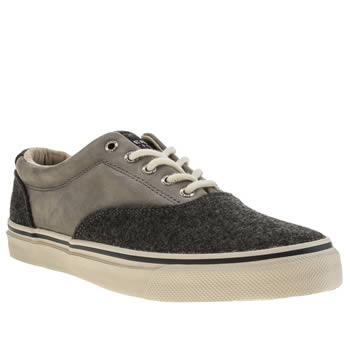 Mens Sperry Grey Striper Cvo Wool Shoes
