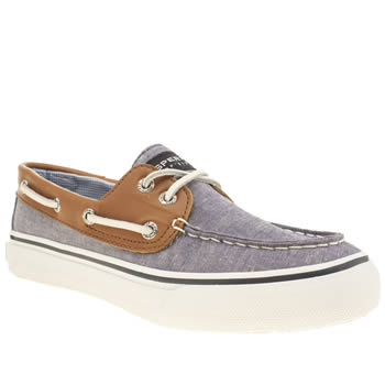Sperry Navy Bahama 2 Eye Chambray Shoes