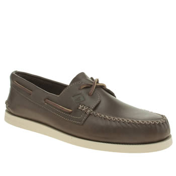 Sperry Brown A/o 2 Eye Whip Stitch Shoes