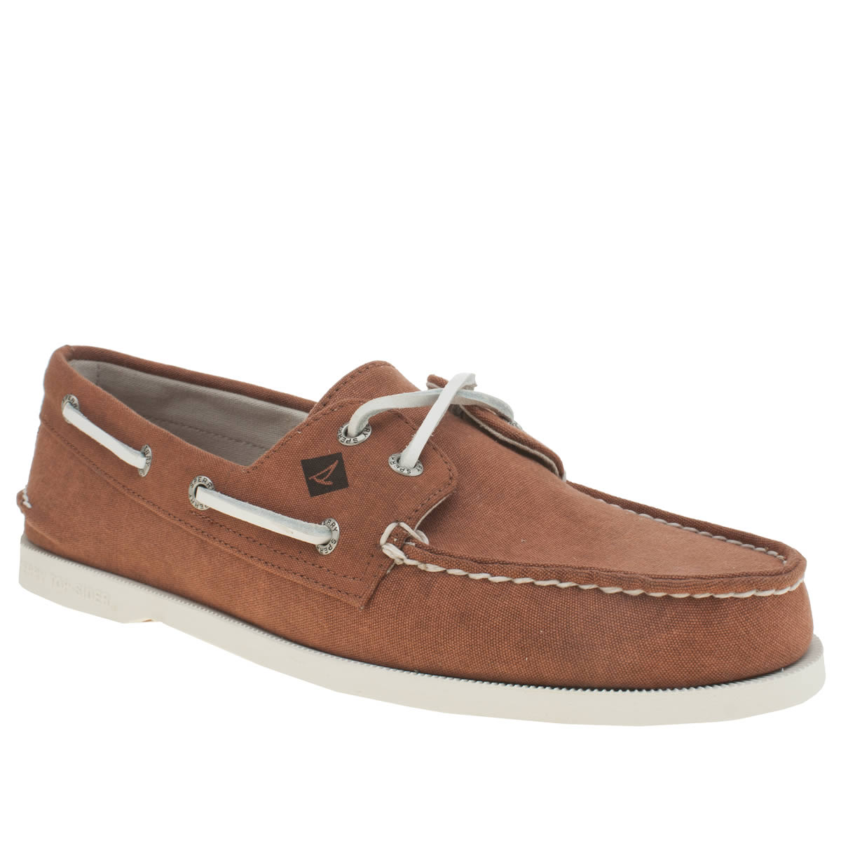 Sperry Sperry Red A/o 2 Eye White Cap Mens Shoes