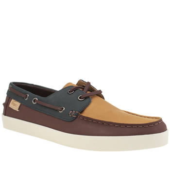 Mens Lacoste Brown & Orange Keellson Premium 3 Shoes