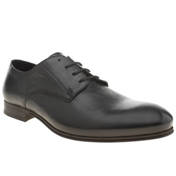 Mens H By Hudson Black Vermont Derby Shoes