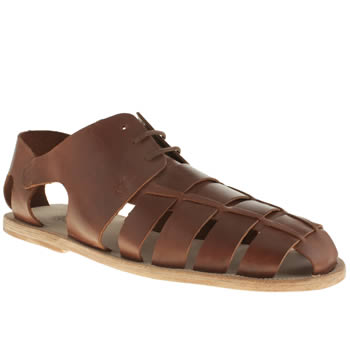 H By Hudson Tan Kanura Mandal Sandals