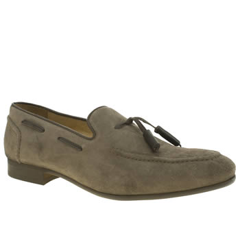 H By Hudson Khaki Rene Tassel Loafer Shoes