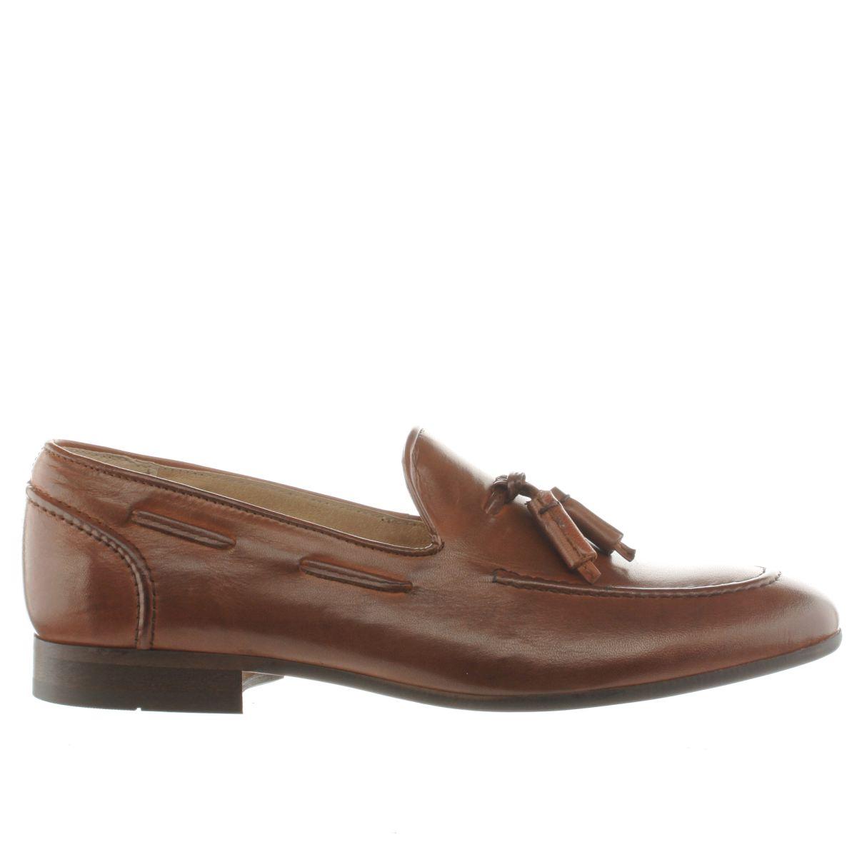 h by hudson tan rene tassel shoes
