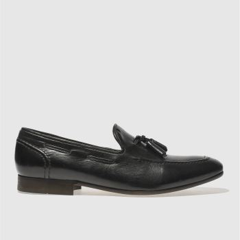 H By Hudson Black Rene Tassel Mens Shoes