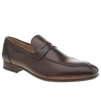 H By Hudson Dark Brown Rene Penny Loafer Shoes