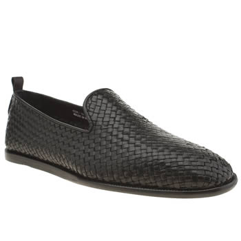 H By Hudson Black Rio Weave Shoes