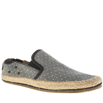 H By Hudson Pale Blue Espadrille Chambray Shoes
