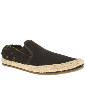 H By Hudson Black Espadrille Washed Chino Shoes