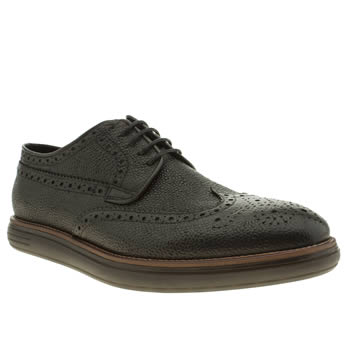 H By Hudson Black Higgs Grain Shoes