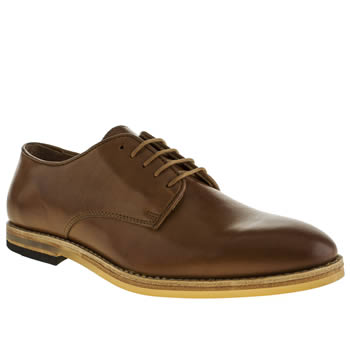 Mens H By Hudson Tan Hallam Plain Toe Shoes
