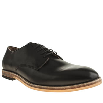 H By Hudson Black Hallam Plain Toe Shoes