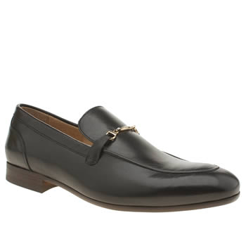 H By Hudson Black Rene Trim Loafer Shoes