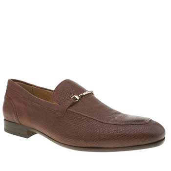 H By Hudson Tan Rene Trim Lizard Shoes