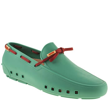 Mens Mocks Green Driver Shoes
