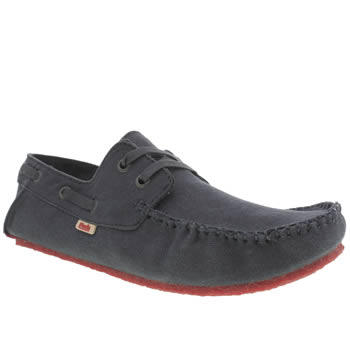 Mocks Navy Canvas Boater Shoes