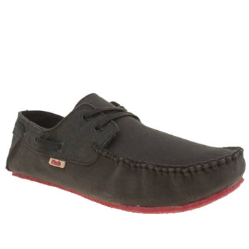 Mocks Black Canvas Boater Shoes