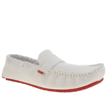 Mocks White Saddle Mens Shoes