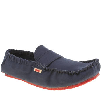 Mocks Navy Saddle Mens Shoes