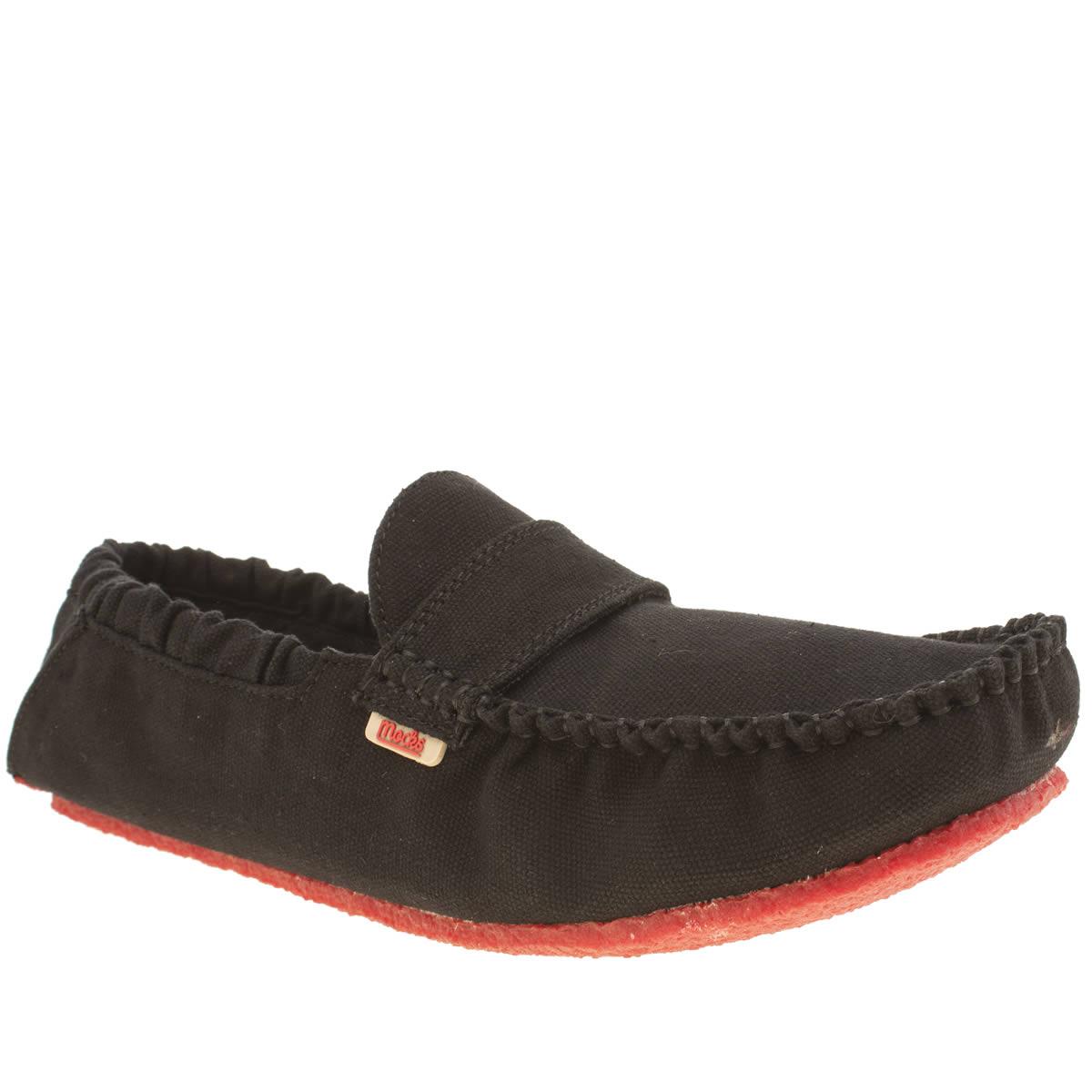 Mocks Mocks Black Saddle Mens Shoes