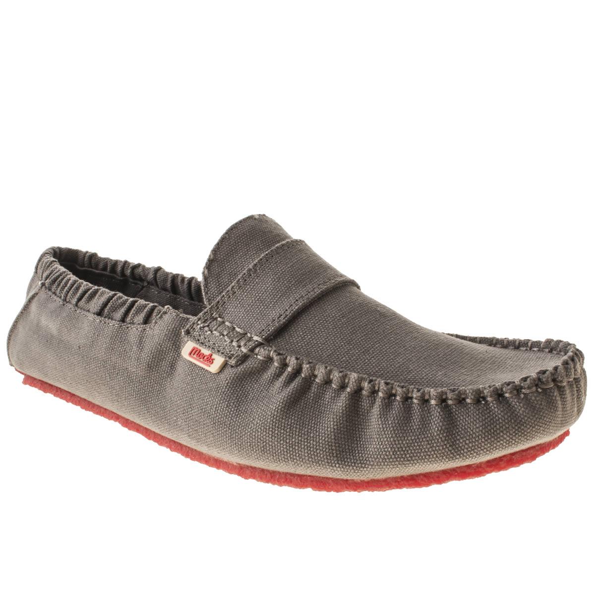 Mocks Mocks Grey Saddle Shoes