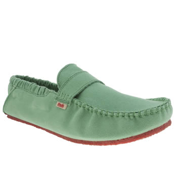 Mocks Light Green Saddle Shoes