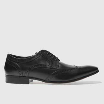 Ikon Black Gipson Brogue Mens Shoes