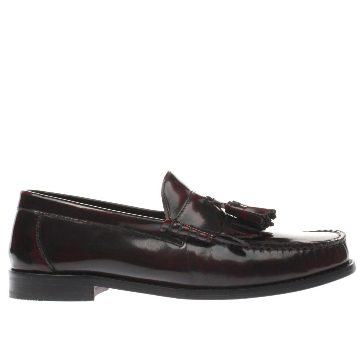 ikon burgundy bel air loafer shoes