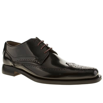 Oliver Sweeney Black Sini Wing Derby Shoes