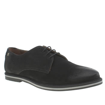 Mens Frank Wright Black Woking Shoes