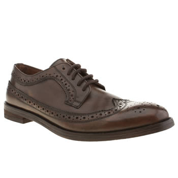 Mens Frank Wright Dark Brown Bude Shoes