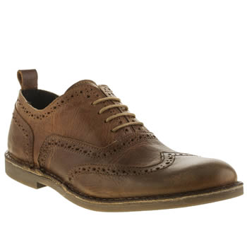 Momentum Tan Desmond Brogue Shoes