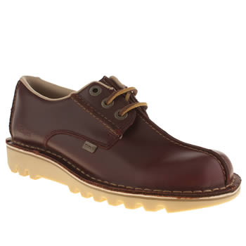 Kickers Burgundy Reverse Shoes