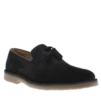 Momentum Black Burbank Loafer Shoes
