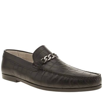 Mens Momentum Black Rinse Loafer Shoes