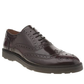 Mens Momentum Burgundy Diffuse Brogue Shoes