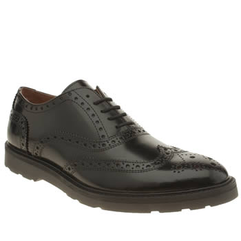 Mens Momentum Black Diffuse Brogue Shoes