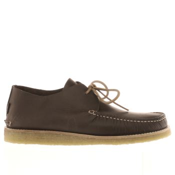 Yogi Dark Brown Lawson Crepe Trapper Shoes