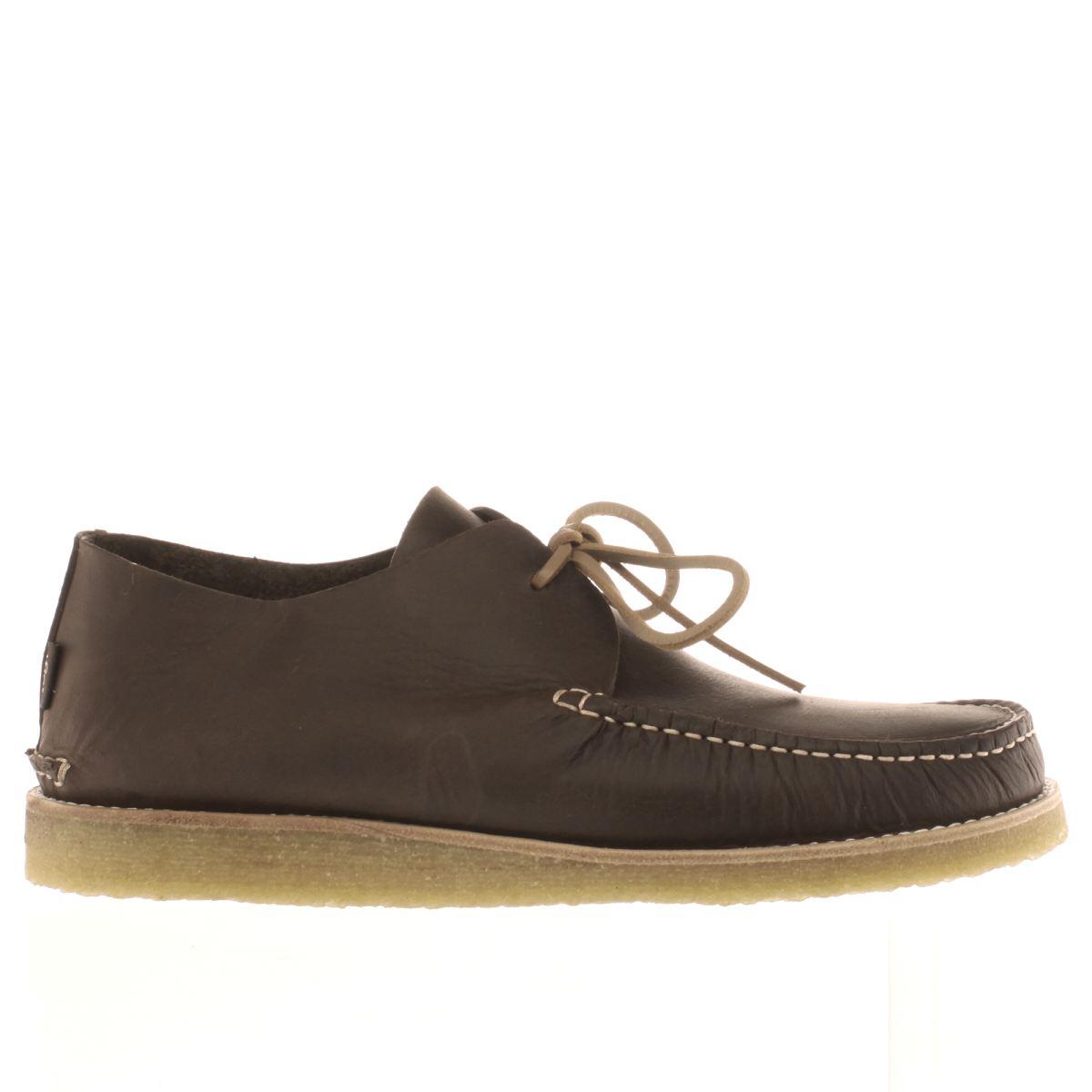 yogi Yogi Dark Brown Lawson Crepe Trapper Shoes